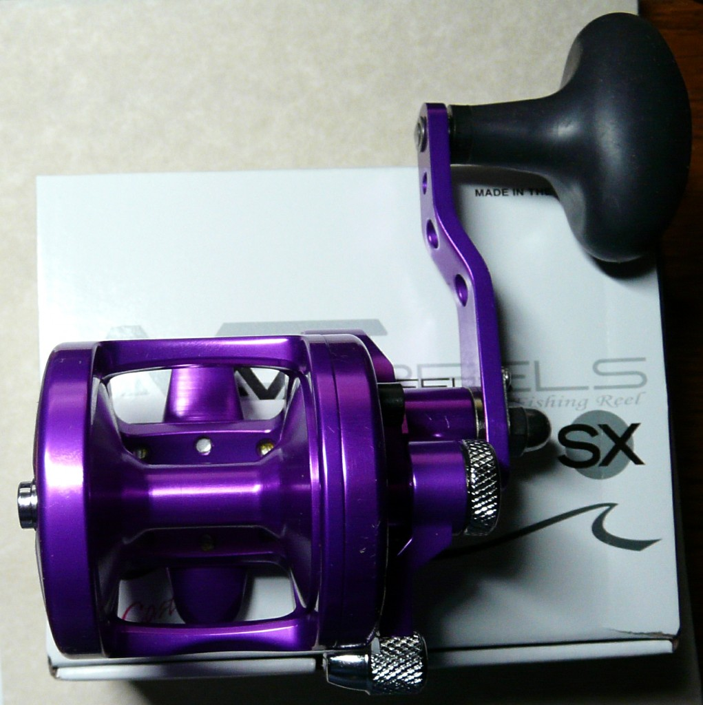 Avet sx ss purple gerry 39 s discount tackle for Purple fishing reel